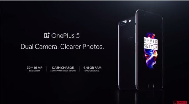 OnePlus 5 launched in India at Rs 32990