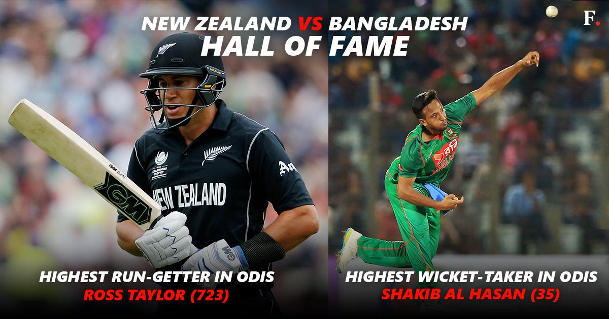 New Zealand bat against Bangladesh in Champions Trophy