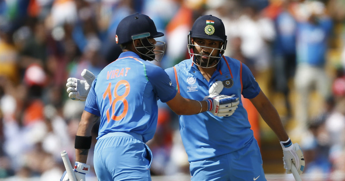 Sharma, Kohli fire India into Champions Trophy final