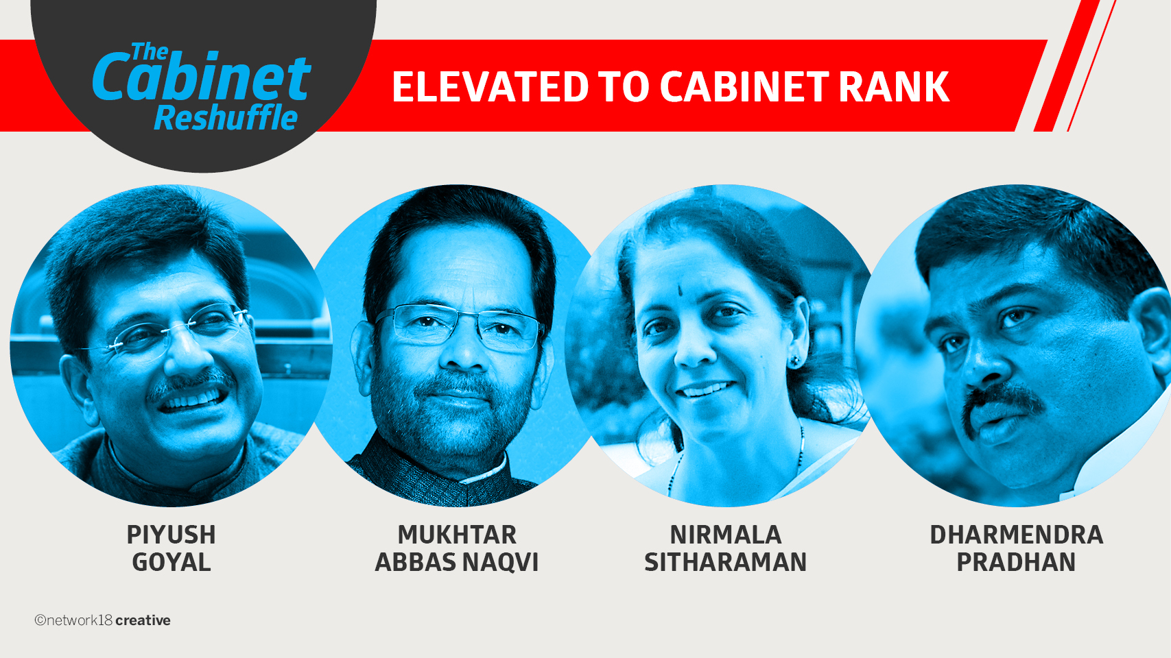 Four Ministers of State upgraded to Cabinet rank