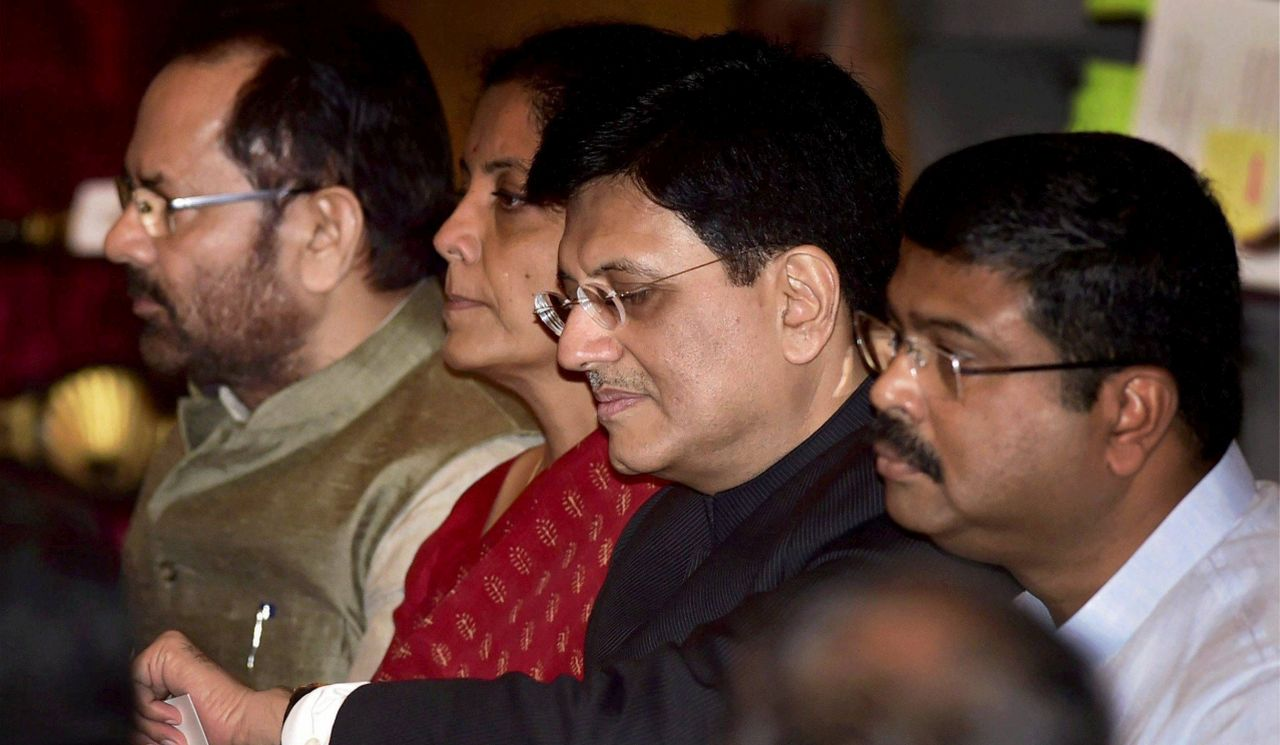 Newly appointed Railways Minister Piyush Goyal takes charge