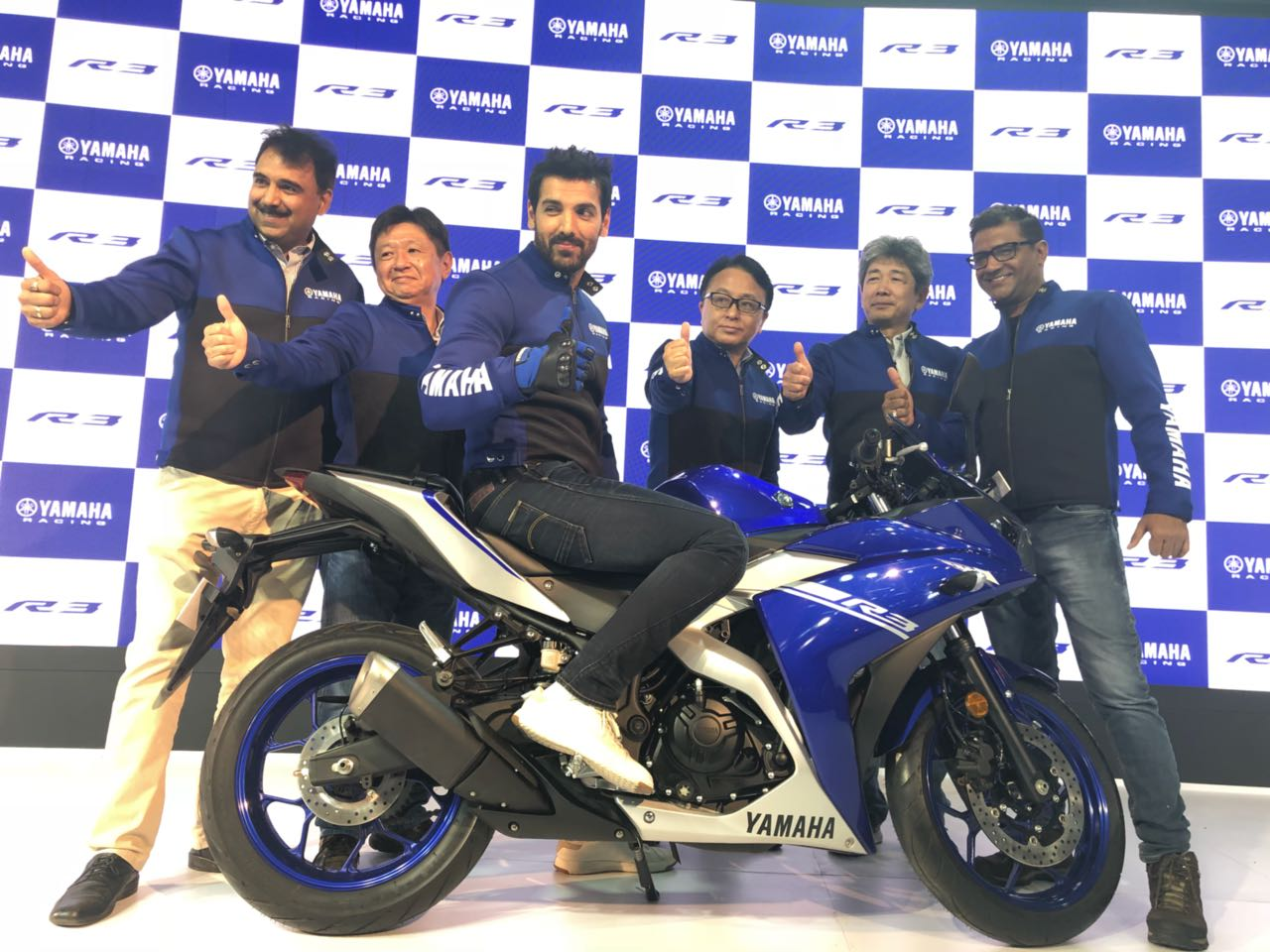 "<p><a href=""http://overdrive.in/news-cars-auto/auto-expo-2018-new-yamaha-yzf-r3-with-dual-channel-abs-launched-in-india-at-rs-3-48-lakh/"">The Yamaha YZF-R3 was unveiled by John Abraham. It is priced at Rs. 3.48 lakh, ex-showroom, Delhi. </a>Bookings will open today!  Delivery by month end</p>"