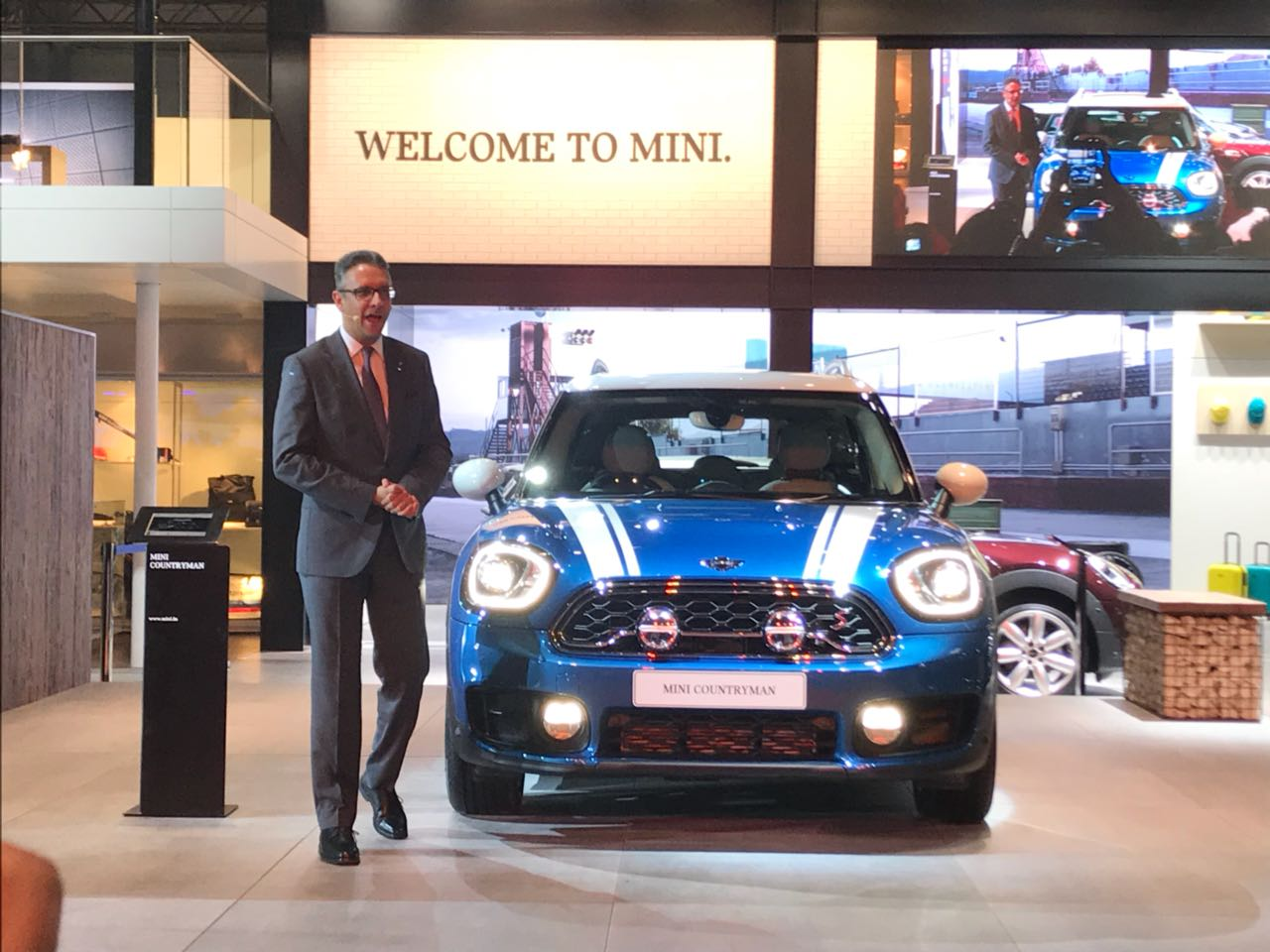 <p>The Mini Countryman showcased!</p>