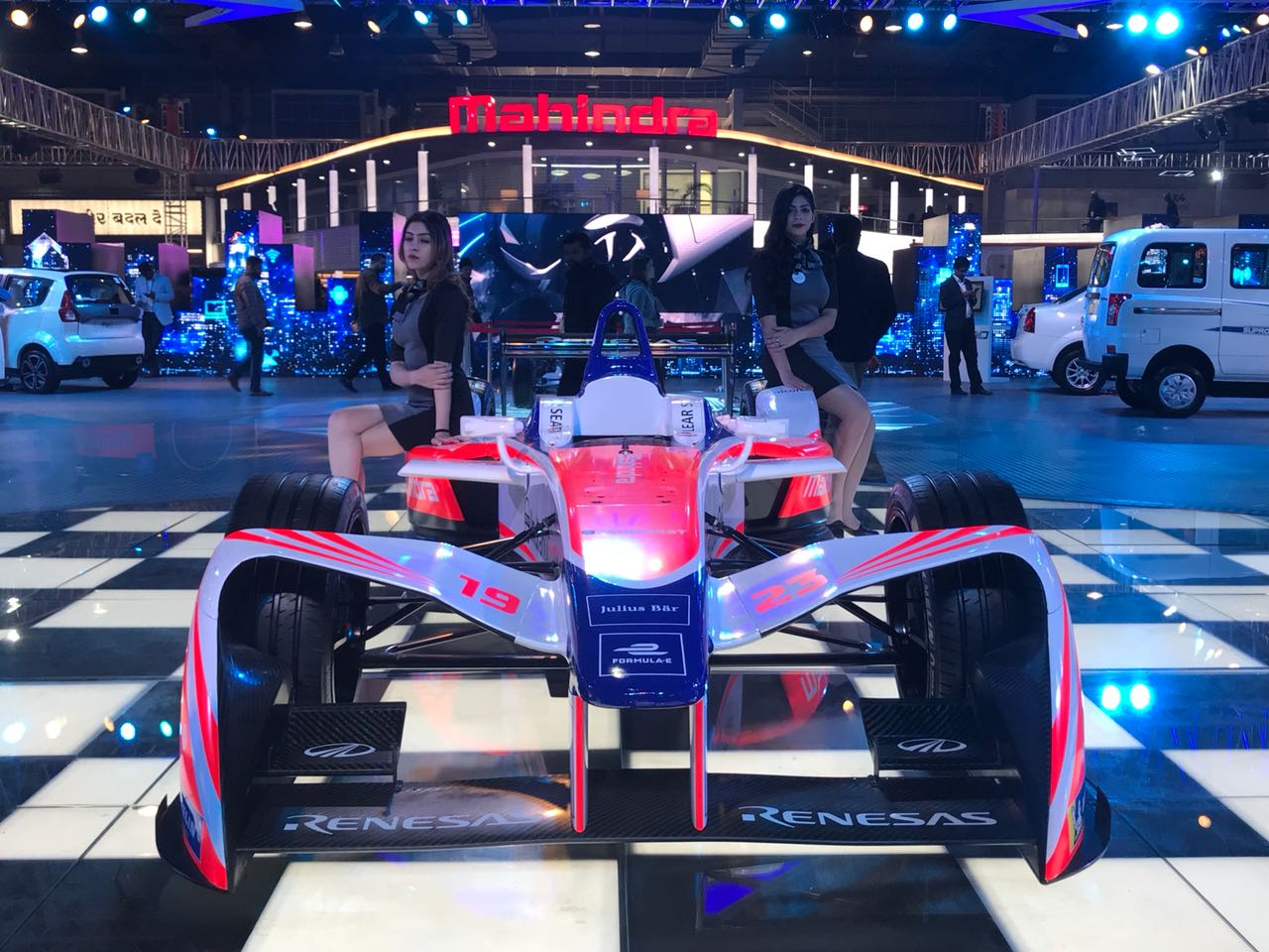 <p>Mahindra Formula-E showcased!</p>