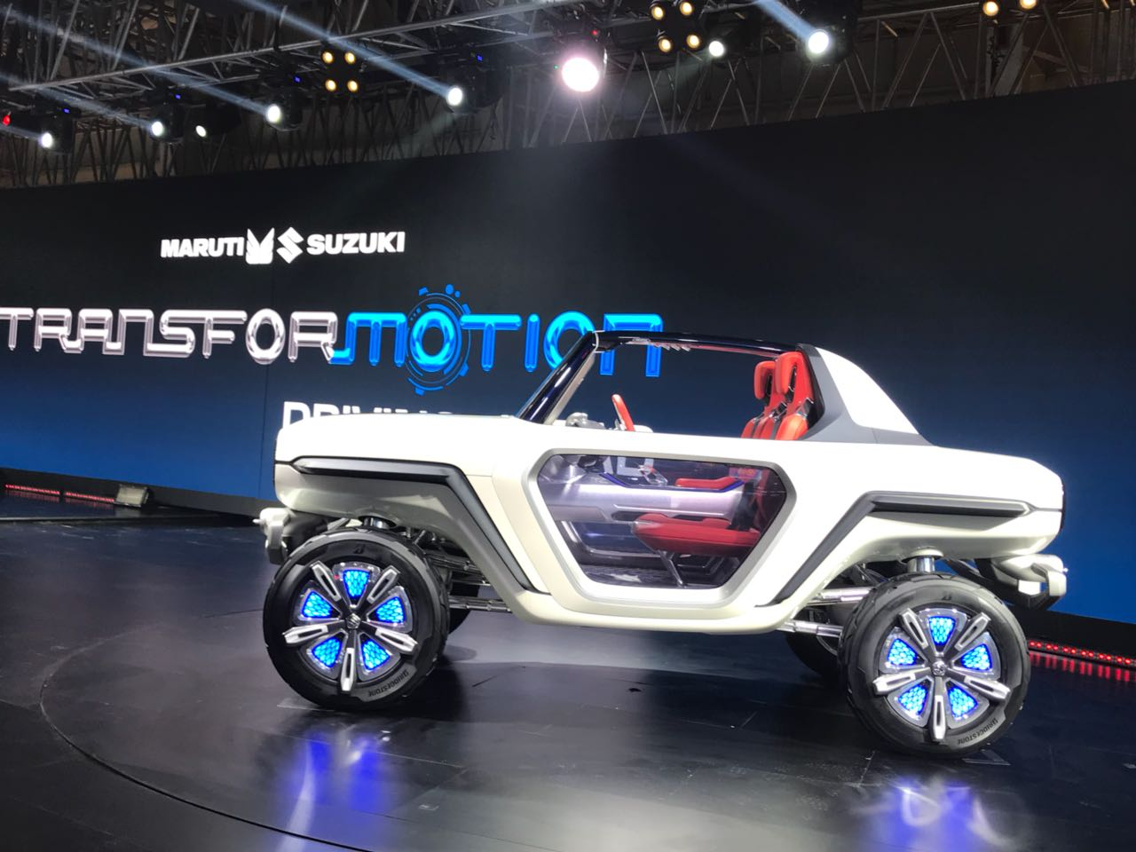 "<p>The Maruti Suzuki e-Survivor at Hall no.9, Stand no. N2 at the Auto Expo 2018. <a href=""http://overdrive.in/videos/suzuki-e-survivor-auto-expo-2018/"">Here's a walkaround video with the Maruti Suzuki e-Survivor</a>.</p>"