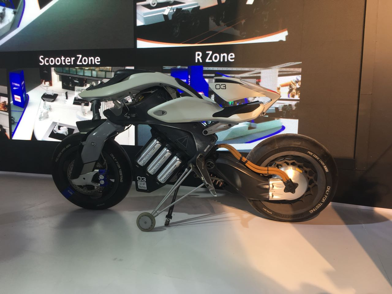 <p>Yamaha to showcase global concept, the Motoroid concept</p>
