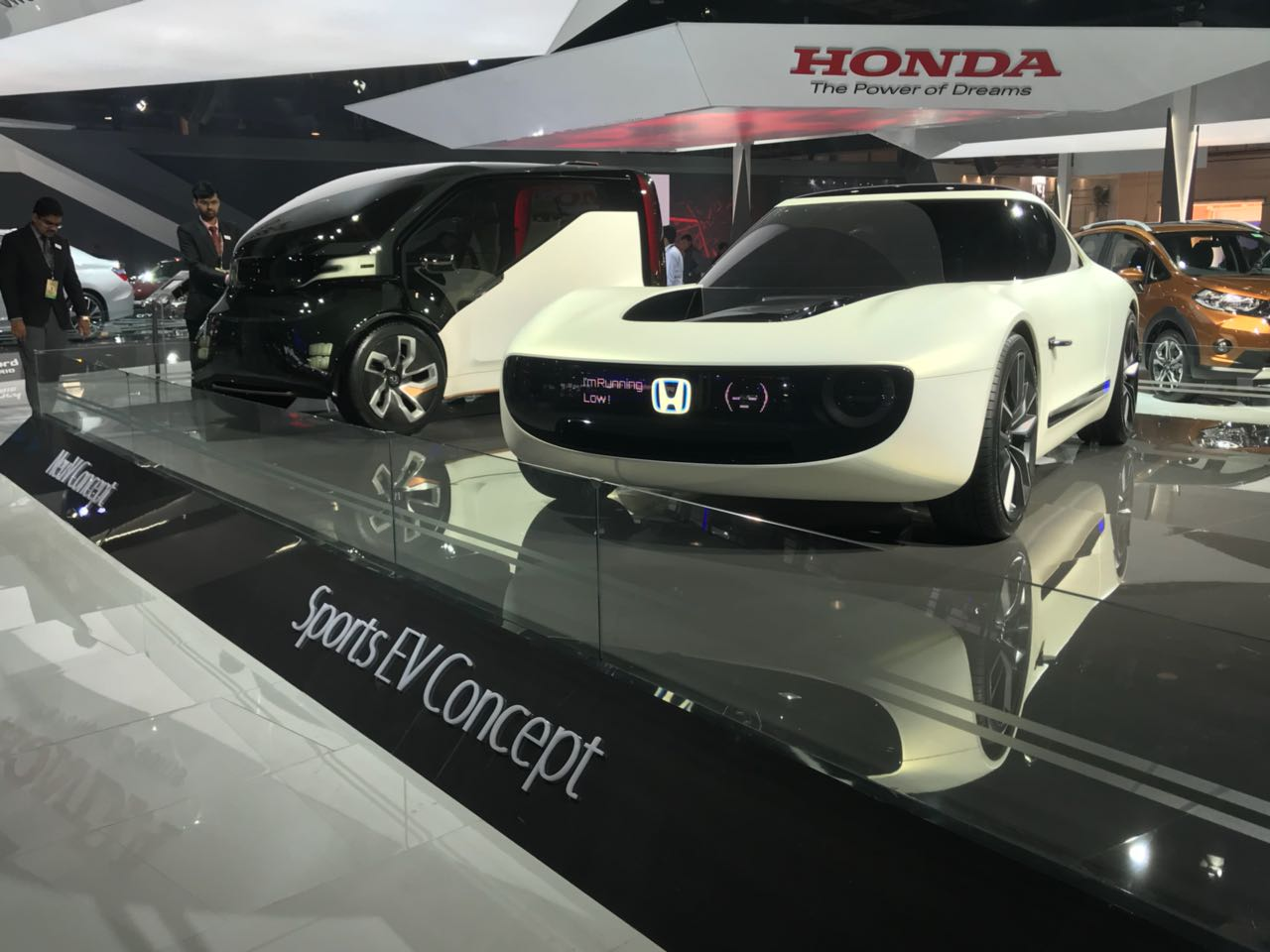 <p>The Honda Sports EV Concept at Hall no.9, Stand no. – N 2 at the Auto Expo 2018</p>