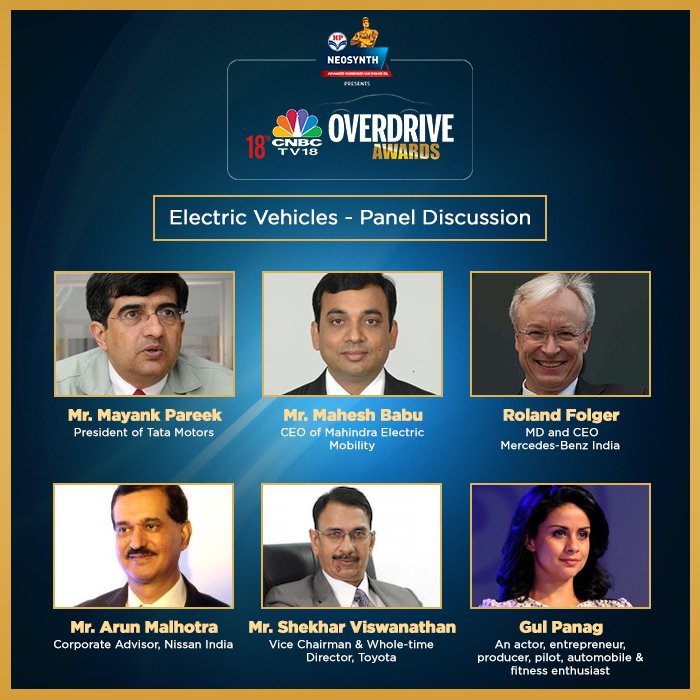 <p>Here's what in store for today! An engaging session with some of the top industry representatives on 'Electric Vehicles'</p>