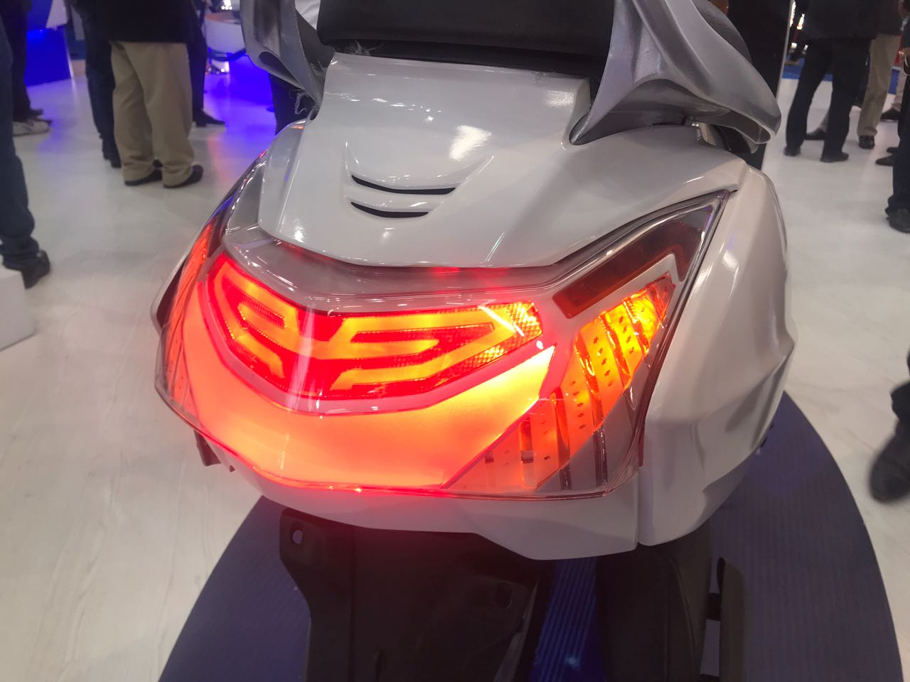 <p>Varroc Group is into telematics and illuminations. What you see here is an all-LED lights setup on the Honda Activa</p>