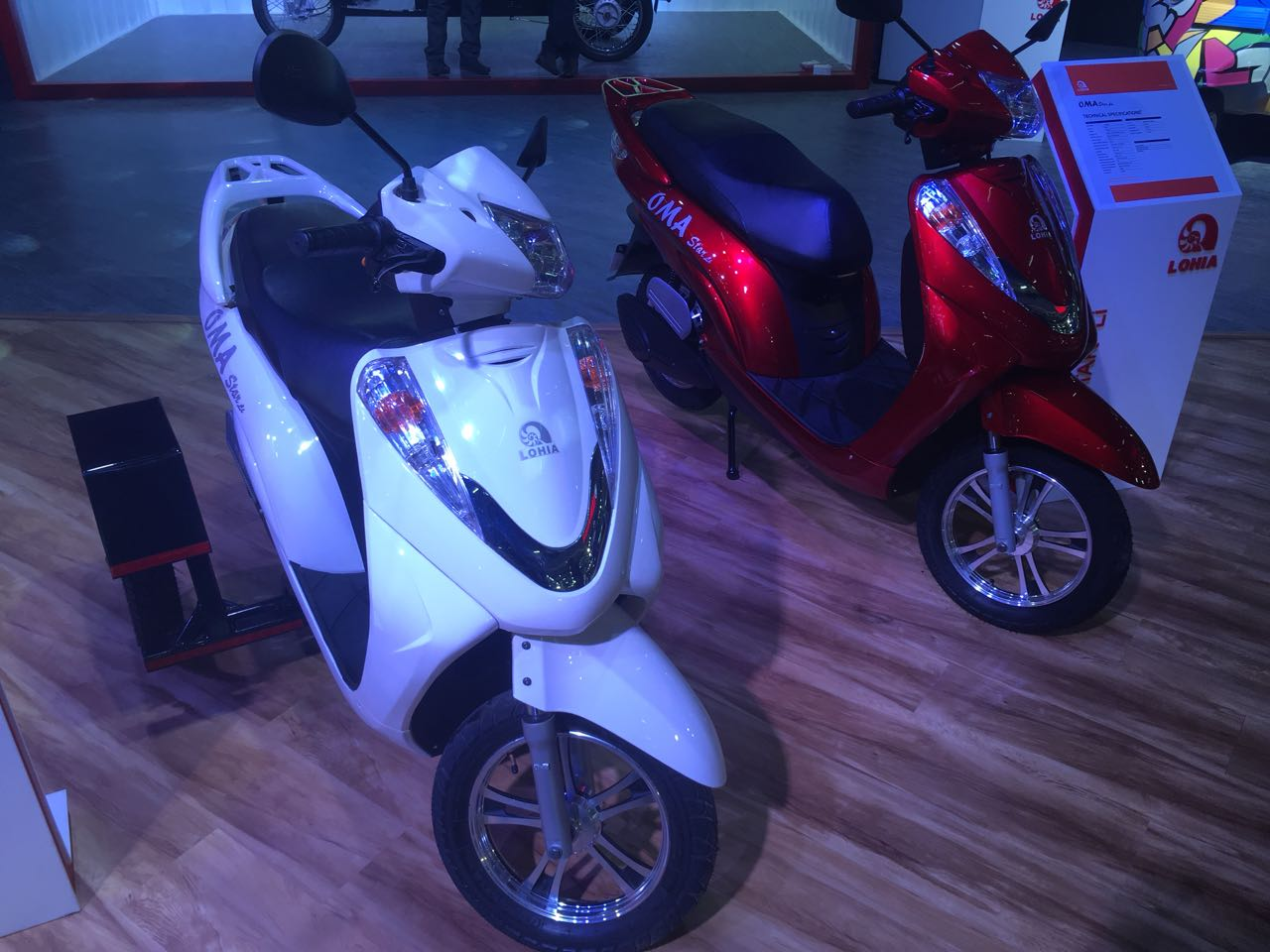 <p>Lohia Electric Scooters at Hall no. 6</p>