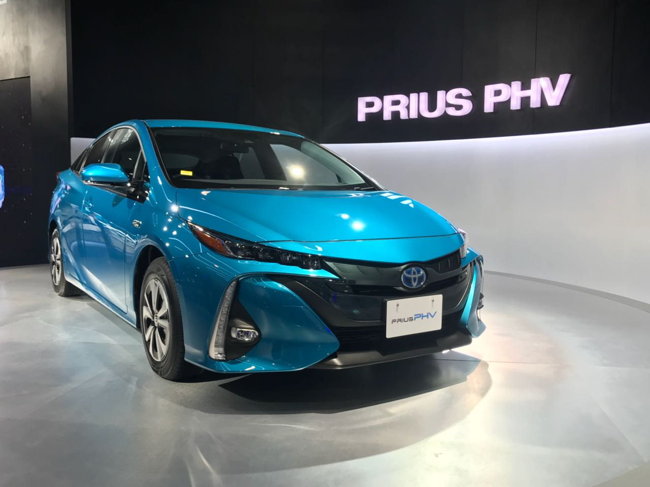 <p>The Toyota Prius PHV (Plug-in Hybrid Vehicle) at Hall no. 9, Stand no. N3</p>