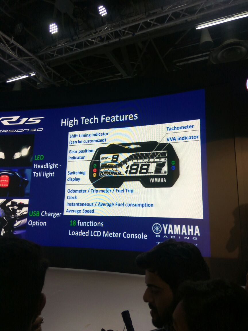 <p>Here are the features of the Yamaha R15 V3- </p>