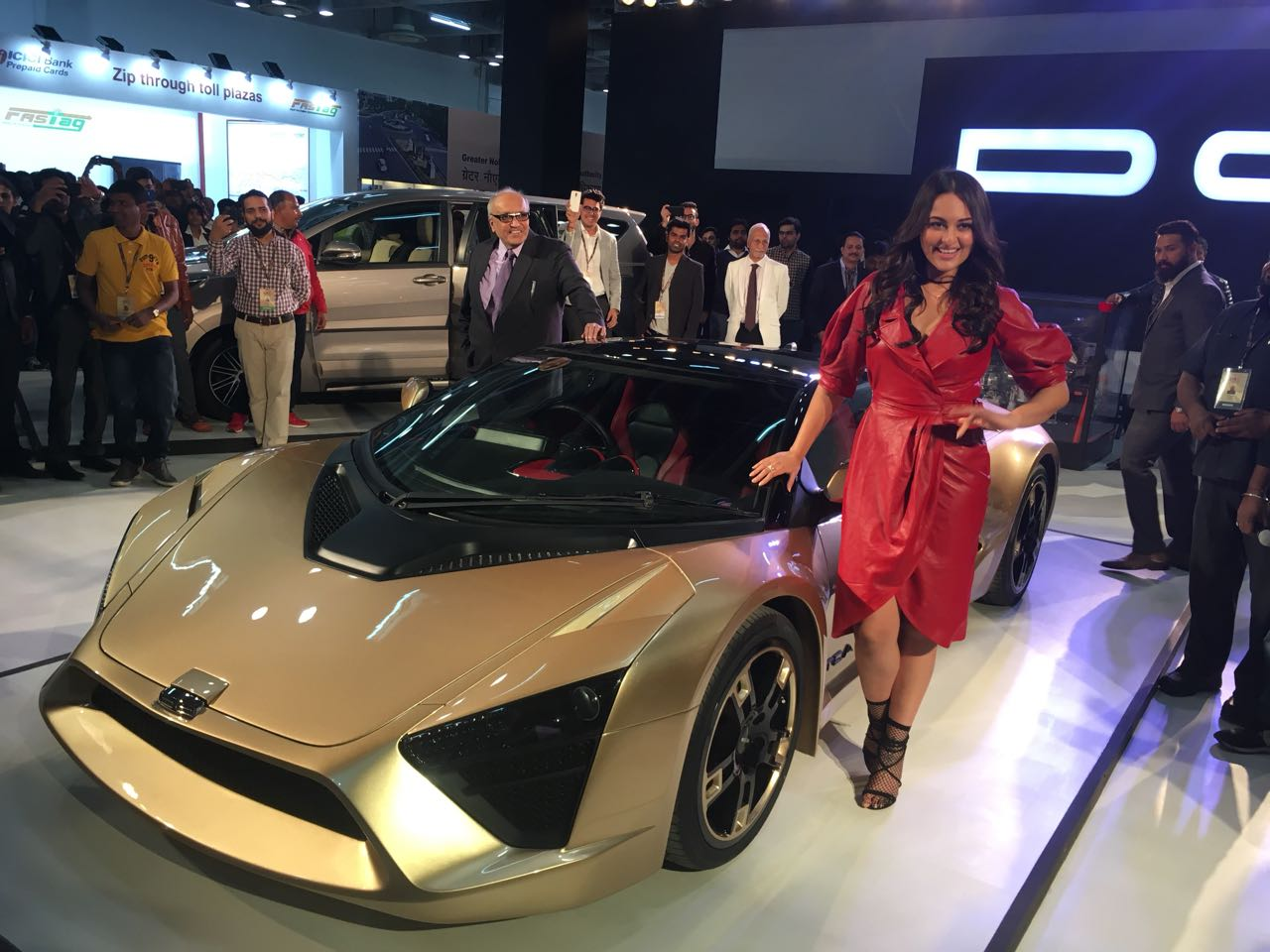 <p>DC Motors unveiled their latest creation, the DC TCA along with Sonakshi Sinha at the Auto Expo 2018. Here's a look at it</p>