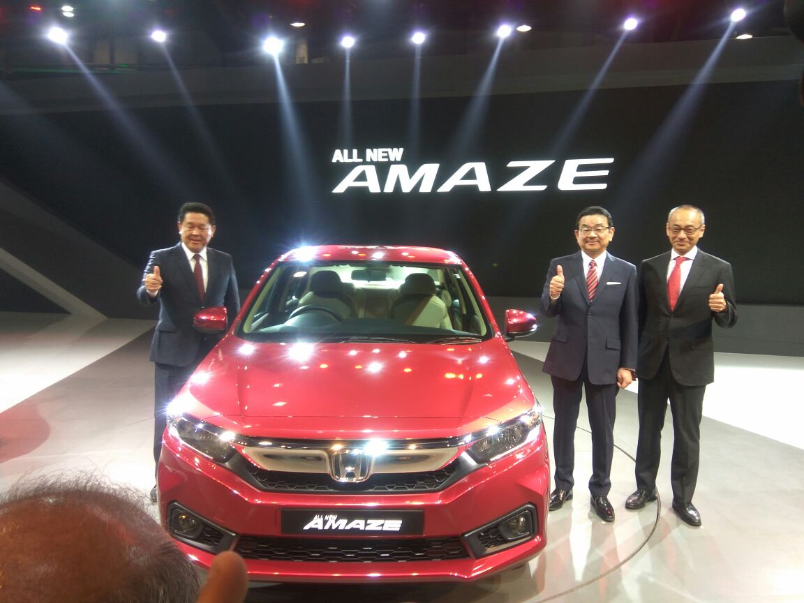 New Honda Amaze 2018 makes Global Debut at Auto Expo 2018