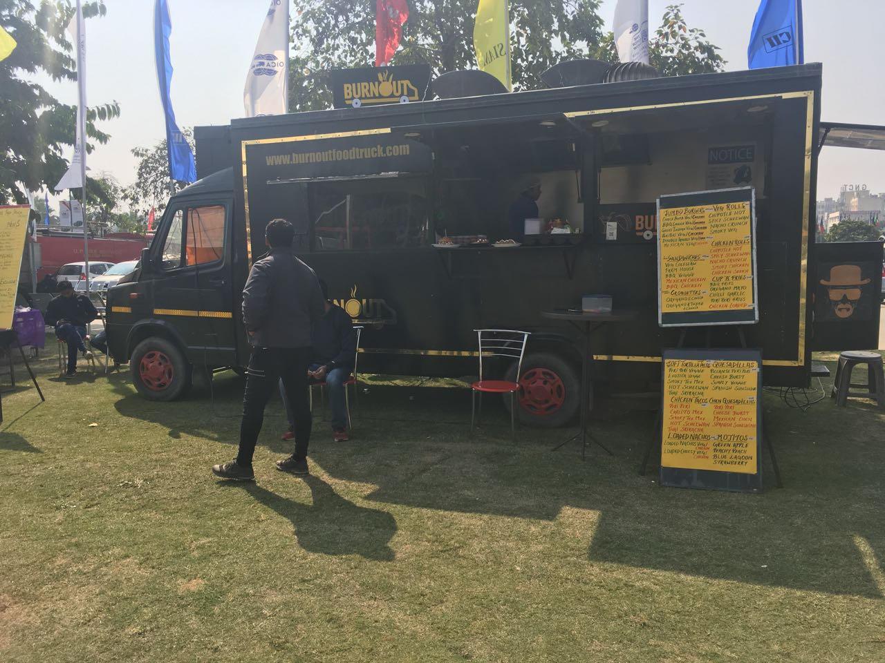 <p>Food on wheels at the Auto Expo 2018!</p>