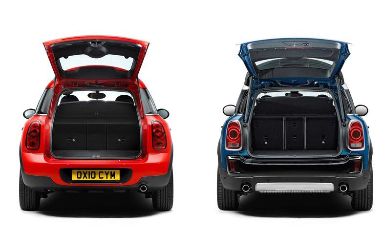 <p>The 2018 Mini Countryman gets a larger boot - 450l with the seats up or 1,309l with the seats folded. For better versatility, the rear seats also get a 40:20:40 split-folding capability.</p>