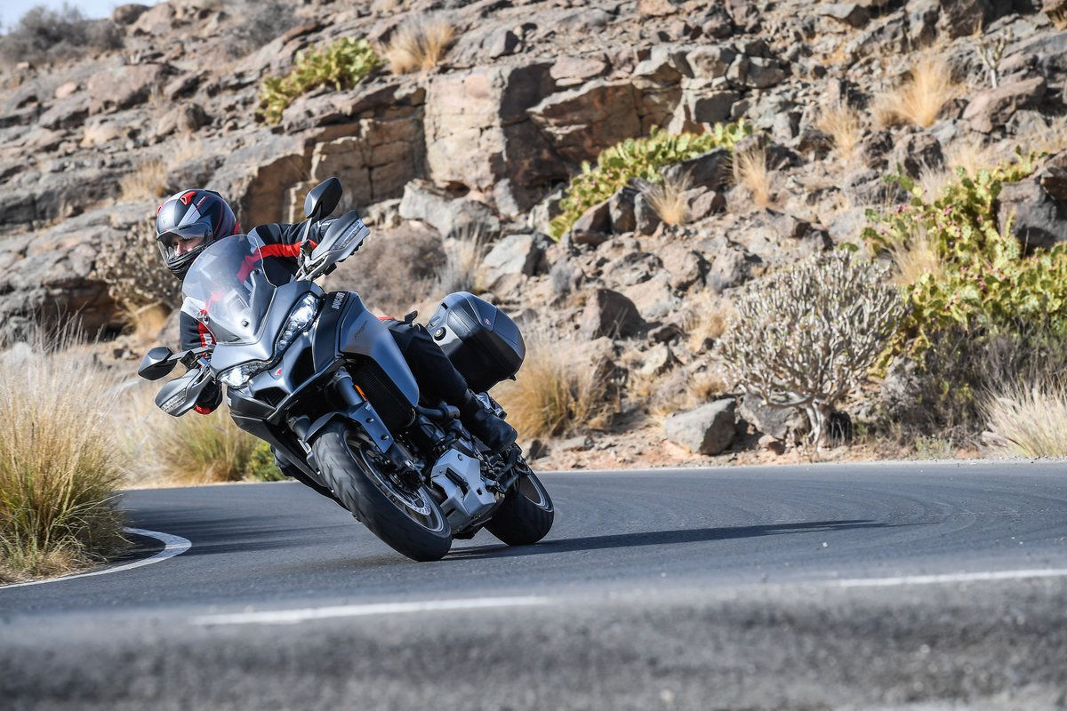 <p>The added 60cc gives the #Multistrada1260 1Nm and a modest 6PS This fills torque 3,500rpm onwards which dramatically changes throttle feel</p>