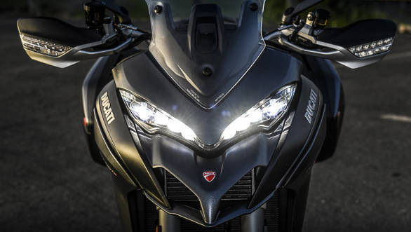 """<p><a href=""""http://overdrive.in/videos/2018-ducati-multistrada-1260-s-detailed-walkaround-and-first-ride-review/"""">See our detailed walk around video of the Multistrada1260 here</a></p>"""