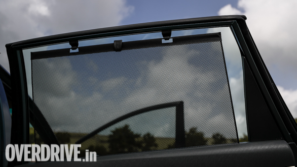 <p>Second row occupants also get retractable sunshades to keep heat at bay, thus adding to comfort for the chauffer-driven lot</p>