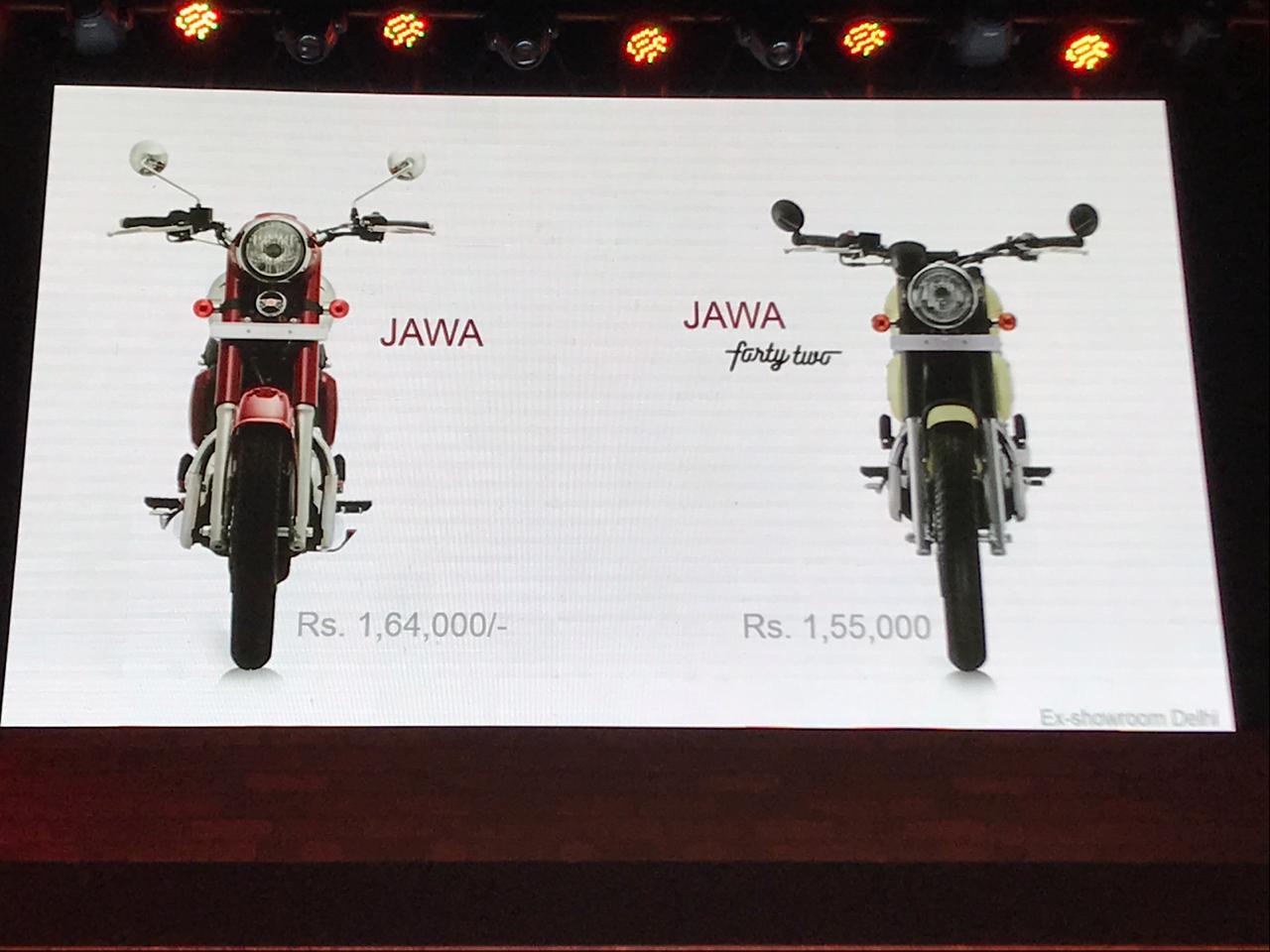 Jawa 300 cc Motorcycle India launch: Jawa, Forty Two