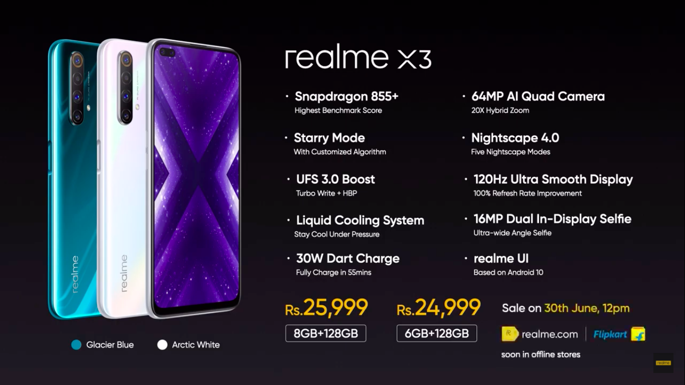 Realme Launch Highlights Realme X3 X3 Superzoom Buds Q