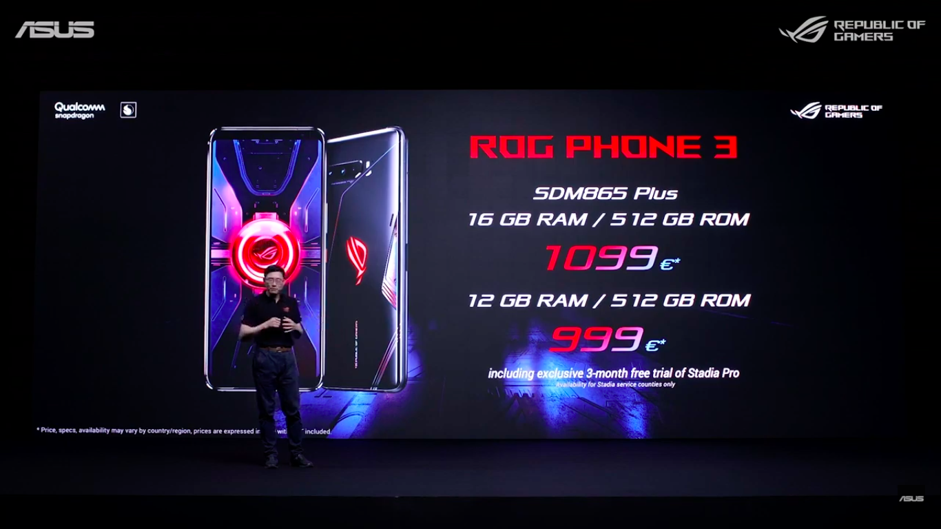 Asus Rog Phone 3 Qualcomm Snapdragon 865+, India Launched Rs 49,999 (8GB RAM + 128GB)