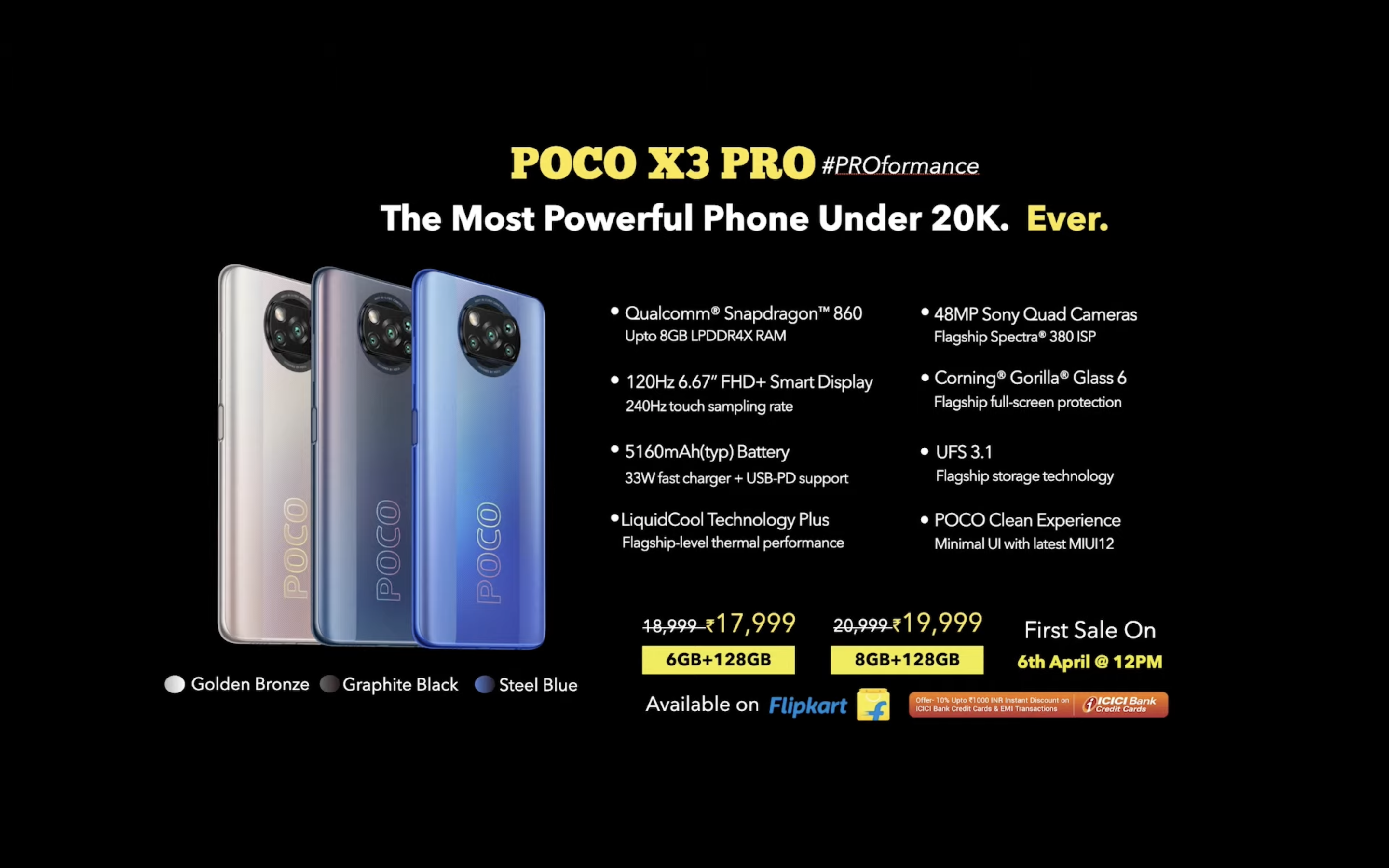 Poco X3 Pro India launch highlights: Priced starting Rs 18,999, first sale  on 6 April- Technology News, Firstpost