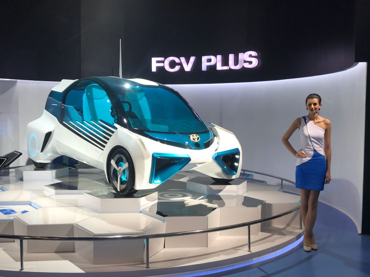 <p>The Toyota FCV Plus at Hall no. 9, Stand no. N3</p>
