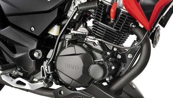 <p>The Hero Xtreme 200R is powered by a 200cc engine producing 18.4PS and 17Nm that is based on the Achiever 150's engine</p>