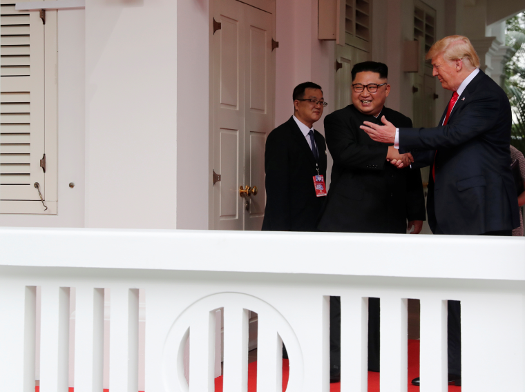 Trump meets Kim Jong Un in Singapore