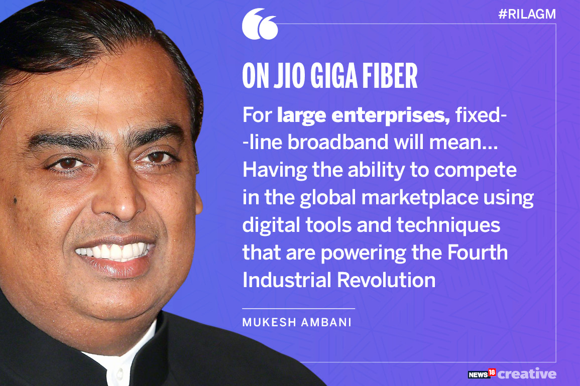 Reliance Jio introduces JioGigaFiber FTTH broadband service in India