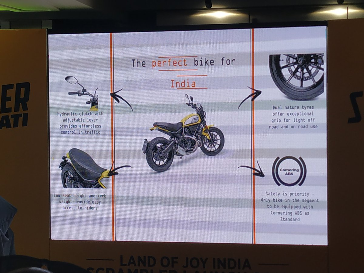<p>Some more updates on the 2019&nbsp; Ducati Scrambler. The suspension setup also has been changed to a softer setting.&nbsp;</p>