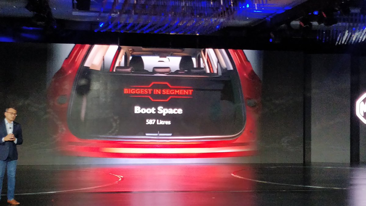<p>MG Hector boot space is 587 litres</p>