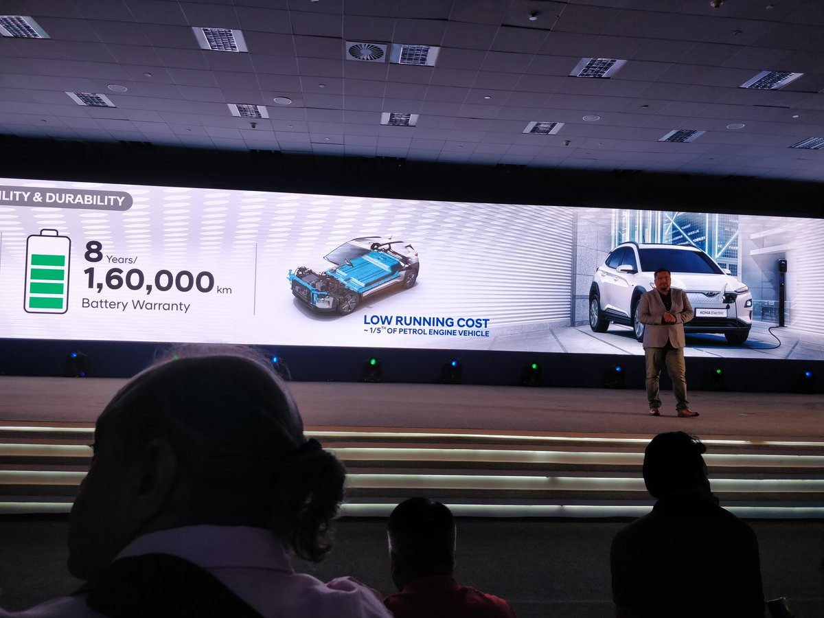 <p>Additional value benefits offered by Hyundai&nbsp;on the Kona Electric<br /> Collaborations with IOCL in cities like Delhi, Mumbai, Bangalore and&nbsp;Chennai where charging stations will be added to existing fuel stations. A running cost that is 1/5th of regular IC engine car</p>