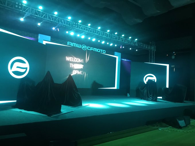 <p>We&#39;re already at the launch of the CFMoto and the company is all set to officially unveil&nbsp;300NK, 650NK, 650MT and the 650GT</p>