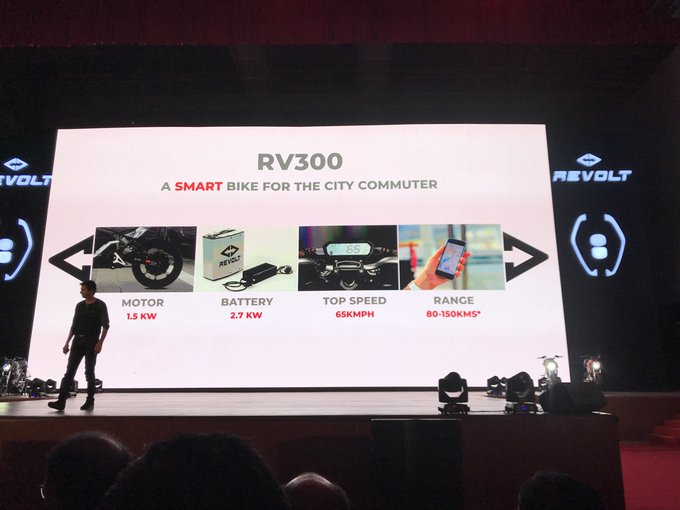 <p>Revolt is also launching a lower specced version of the RV400 today, called the RV300.</p>