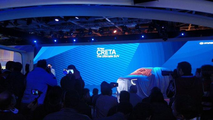 <p><strong>Hyundai India -&nbsp;Auto Expo 2020, Day 2:</strong></p>  <p>2020 Hyundai Creta aiming to take the fight to its main rival, the Kia Seltos.</p>