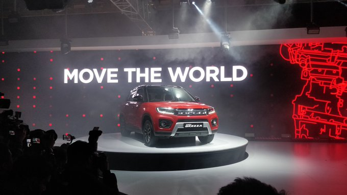<p><strong>Maruti Suzuki India on Day 2 of Auto Expo 2020:</strong></p>  <p>Maruti Suzuki Vitara Brezza facelift has been unveiled in India.&nbsp;gets the K15B petrol motor as seen in the Ciaz and Ertiga with 105PS and 138Nm.</p>