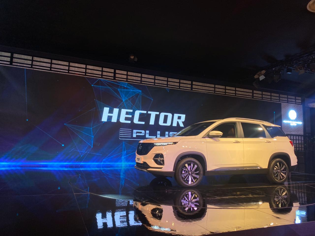 <p><strong>MG India at the Auto Expo 2020, Day 2:</strong></p>  <p>The Hector Plus is being made available to accommodate Indian family requirements.</p>