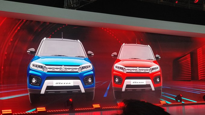 <p><strong>Maruti&nbsp;Suzuki India on Day 2 of Auto Expo 2020:</strong></p>  <p>The grille of the new&nbsp;Maruti&nbsp;Suzuki&nbsp;Vitara&nbsp;Brezza&nbsp;integrates well with the headlamps.</p>