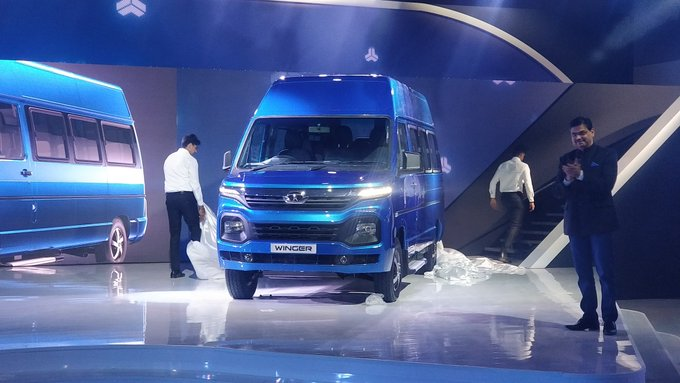 <p>Tata Motors is also focussing on EVs for its CV range. The full range of BSVI Tata Motors vehicles has&nbsp;been unveiled. The new #Winger is one such offering that takes design cues from the Impact 2.0 design philosophy.</p>