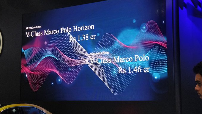 <p><strong>Mercedes-Benz India at Auto Expo 2020:</strong></p>  <p>Prices for the standard Mercedes-Benz&nbsp;Marco Polo start at Rs 1.38 crore while the Horizon version comes in at Rs 1.46 crore (ex-showroom).</p>