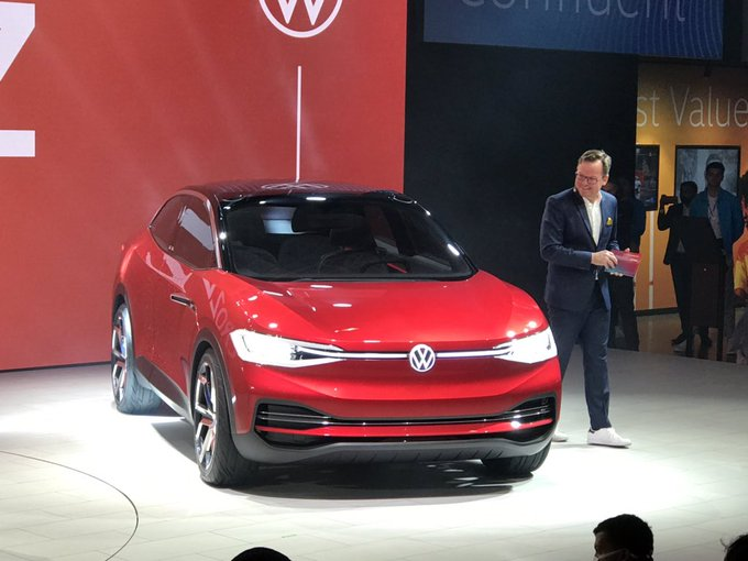 <p><strong>Auto Expo 2020, Day 2 at Volkswagen India pavilion:</strong></p>  <p>Volkswagen showcased the ID Crozz at Auto Expo 2020. Offers a range of 500km in one full charge.</p>