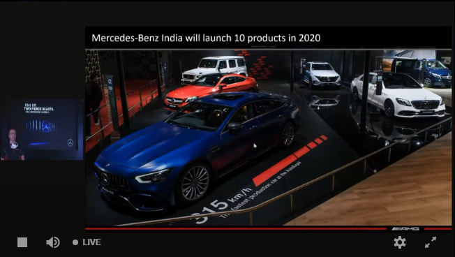 <p>The company will launch 10 new cars in India in 2020 including the new GLS, GLA, A-Class Limosine and the EQ C&nbsp;</p>