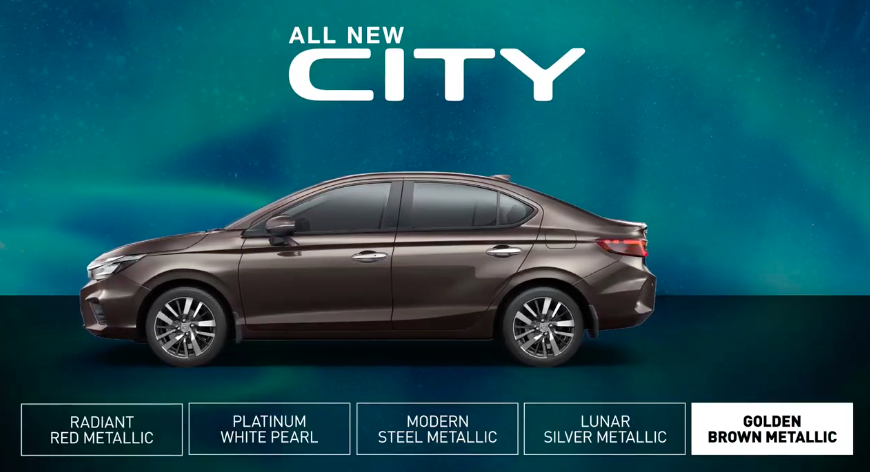 <p>Here are the colour options of the 2020 Honda City</p>