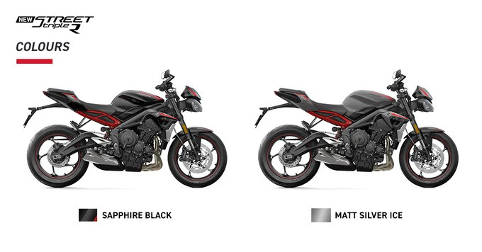 <p>The motorcycle will be available in Sapphire Black and Matt Silver Ice colour with Diablo Red &amp; Aluminium Silver decals, red wheel pinstripes and red rear sub-frame.&nbsp;</p>