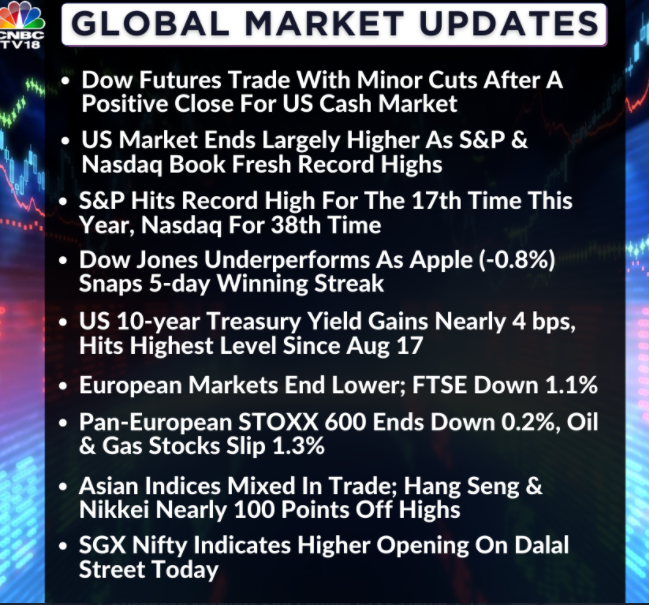 Here are some global cues from overnight & this morning