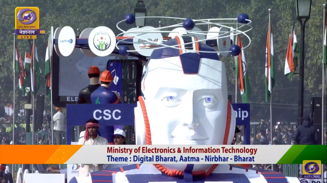 Republic Day 2021 LIVE Updates: The tableaux of the Ministry of Electronics and IT shows off India's progress digitally