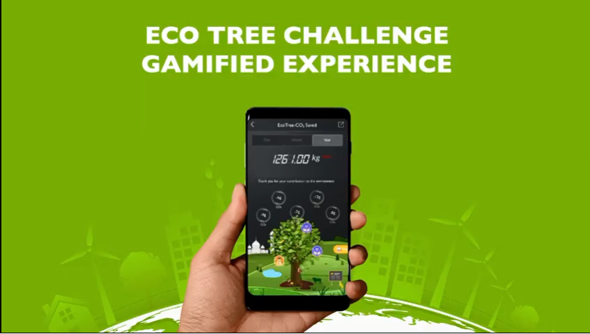 <p>The app now features gaming features for users to compare their CO2 savings</p>