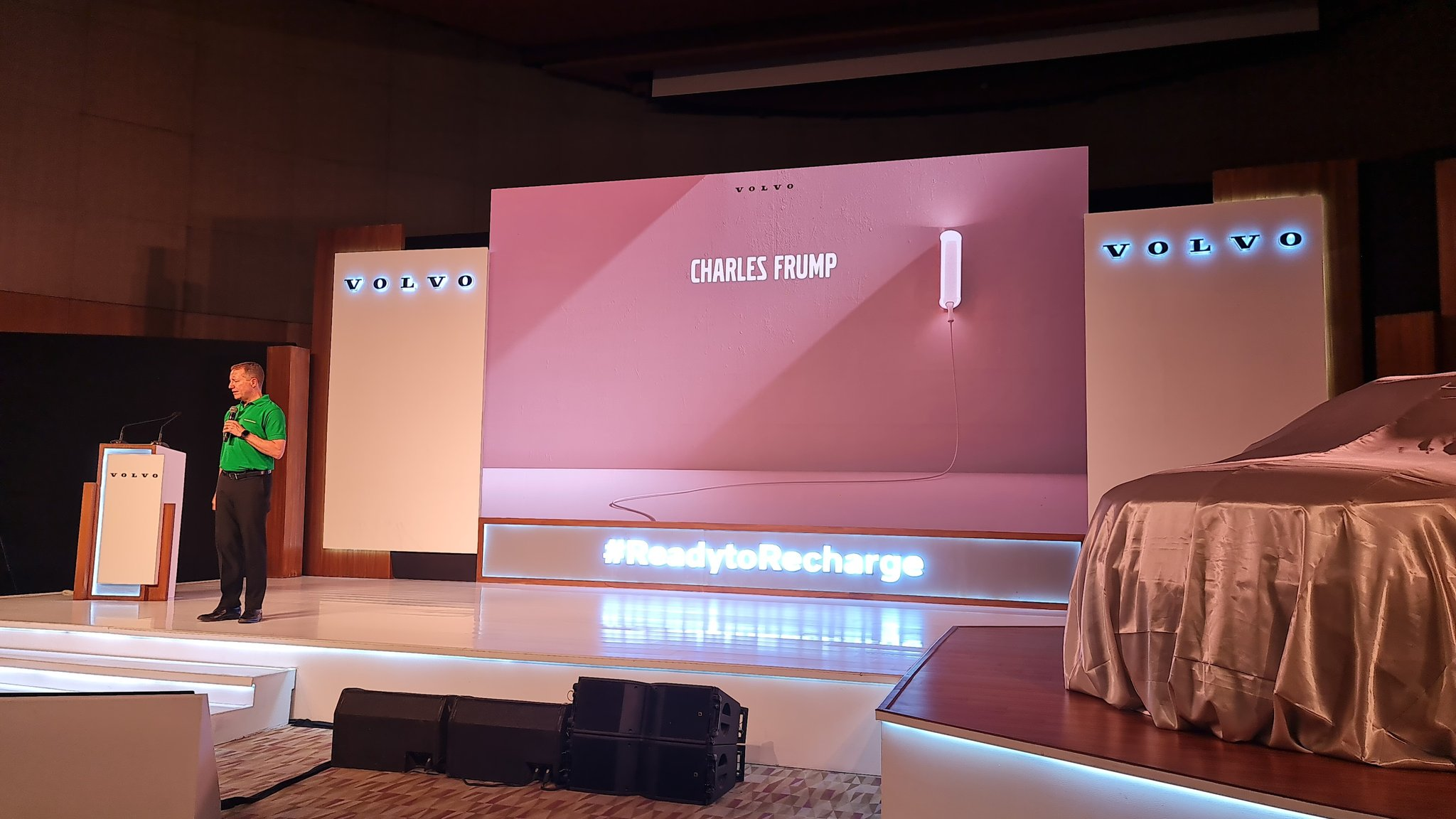 Charles Frump, the former MD of Volvo India takes to the stage to introduce Volvo India's plan for India.